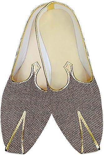 INMONARCH Herren Bronze Jute Hochzeit Schuhe Groomsmen MJ014221