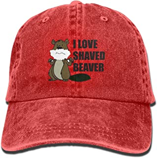 I Love A Shaved Beaver Adult Cowboy Cap