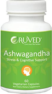 RUVED Ashwagandha, Powerful Cognitive, Adrenal, Immune-System, and Full-Body Support, All-Natural Ayurvedic Supplement, Do...
