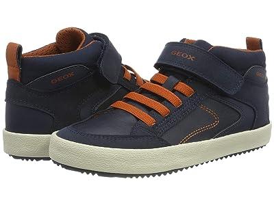 Geox Kids Jr Alonisso 41 (Big Kid) (Navy/Orange) Boys Shoes