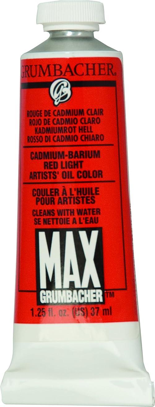 Grumbacher Max Water Miscible Oil Paint, 37ml/1.25 oz, Cadmium-Barium Red Light
