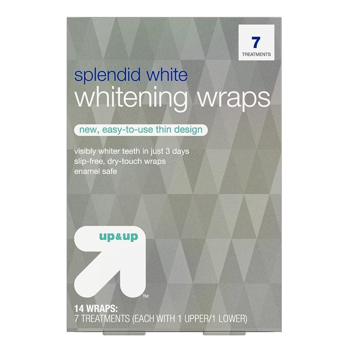 維持する夜明けに知り合いになるスプレンディッドホワイトニングラップス7日分 アップ&アップ Splendid White Teeth Whitening Wraps 7-Day Treatment - up & up