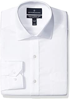Marchio Amazon - Buttoned Down Tailored-Fit Stretch Twill Non-Iron Dress Shirt Uomo