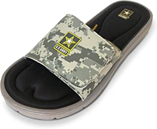 U.S. Army Men's Memory Foam Slide Sandals Camo