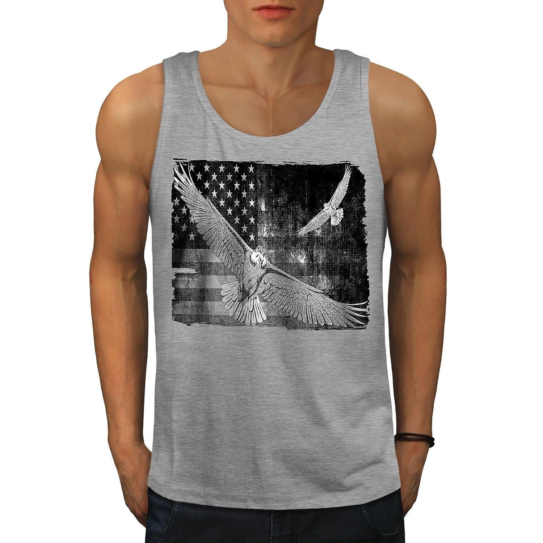 Wellcoda アメリカン 旗 国 アメリカ合衆国 男性用 S-2XL タンクトップ