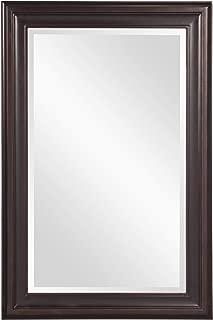 Howard Elliott George Rectangular Wood Framed Wall Vanity Mirror, 53047, Rectangular, Oil Rubbed Bronze