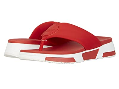 FitFlop Sporty Logo Toe-Thong (Red) Women