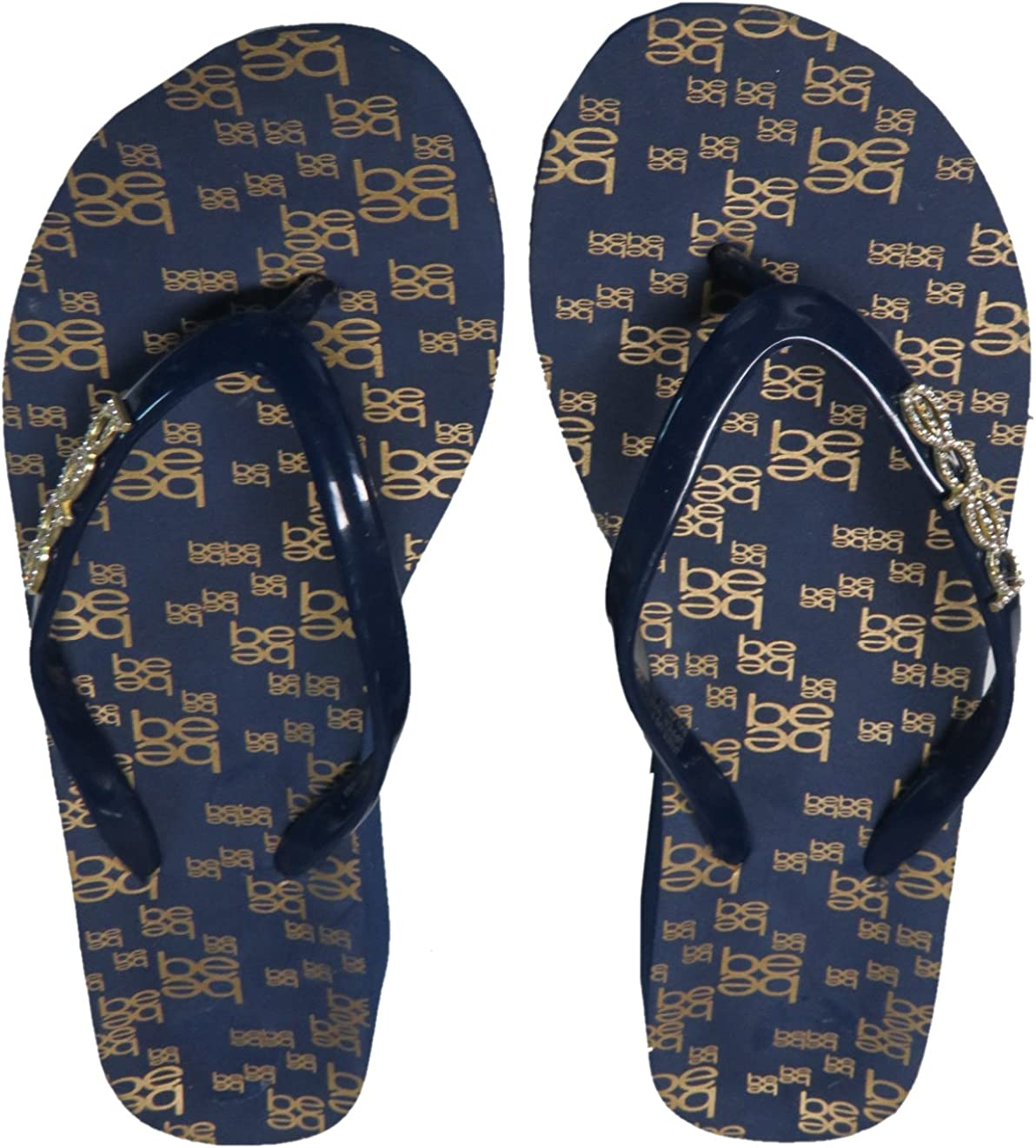bebe Women's Flip Flop Max Ranking integrated 1st place 76% OFF Thong w Bling Blue