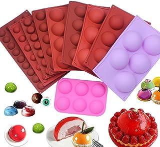 قالب سيليكون نصف دائري يمكن استخدامه ككرة شوكولاتة مستديرة المزاج الحلوى الخبز أداة الشوكولاته العفن Uongfi (Color : 8 balls)