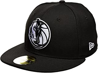 finest selection e2f8b ab446 New Era Dallas Mavericks Black White Logo Cap 59fifty 5950 Fitted NBA  Limited Edition