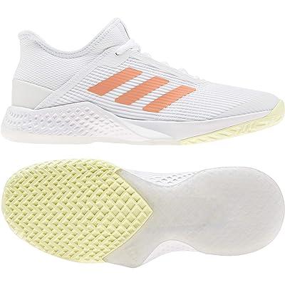 adidas Adizero Club (Footwear White/Amber Tint/Sky Tint) Women