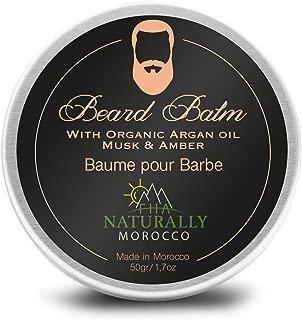 Organic Beard Balm for Men with Argan Oil and Shea Butter - 1.7 Ounce
