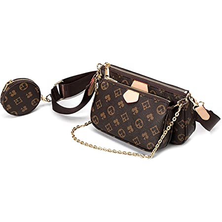 Umhängetasche Damen kleine,Crossbody Bag Damen, Damen Schultertasche Handtasche Kleine Damen Fashion Gifts für Frauen 3 in 1 PU Leder Tragetaschen Brown