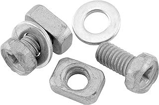 BikeMaster Trugel Battery Bolt/Rectangular Nut Hardware Motorcycle Tool Accessories - Silver/6 x 10 mm