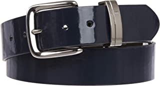 """1 1/2"""" (38 mm) Snap On Nickel Free Faux Synthetic Patent Leather Fashion Plain Belt"""