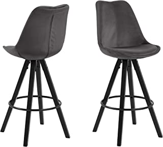 comprar comparacion Amazon Brand - Movian Arendsee - Juego de 2 taburetes de bar, 55 x 48,5 x 111,5 cm, gris