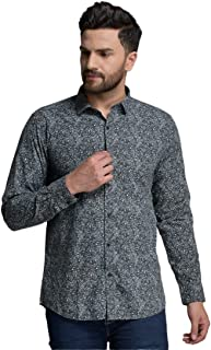 ID Men Grey Slim Fit Shirt