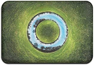 Circle Grass World Home Doormat Floor Mat Non-slip