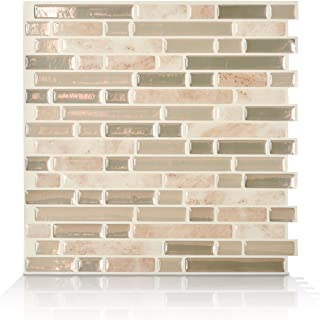 Smart Tiles Peel and Stick Backsplash and Wall Tile Bellagio Sabbia (Pack of 4)