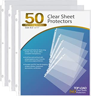 Ktrio Sheet Protectors 8.5 x 11 Inches Clear Page Protectors for 3 Ring Binder, Plastic..