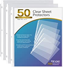 Ktrio Sheet Protectors 8.5 x 11 Inches Clear Page Protectors for 3 Ring Binder, Plastic Sleeves for Binders, Top Loading P...