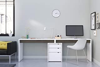 Nexera Chrono 3 Piece Home Office Set, Bark Grey & White