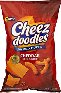 Wise Foods Cheddar Cheese Doodles Baked Puffs 8.5 oz. Bag (4 Bags)