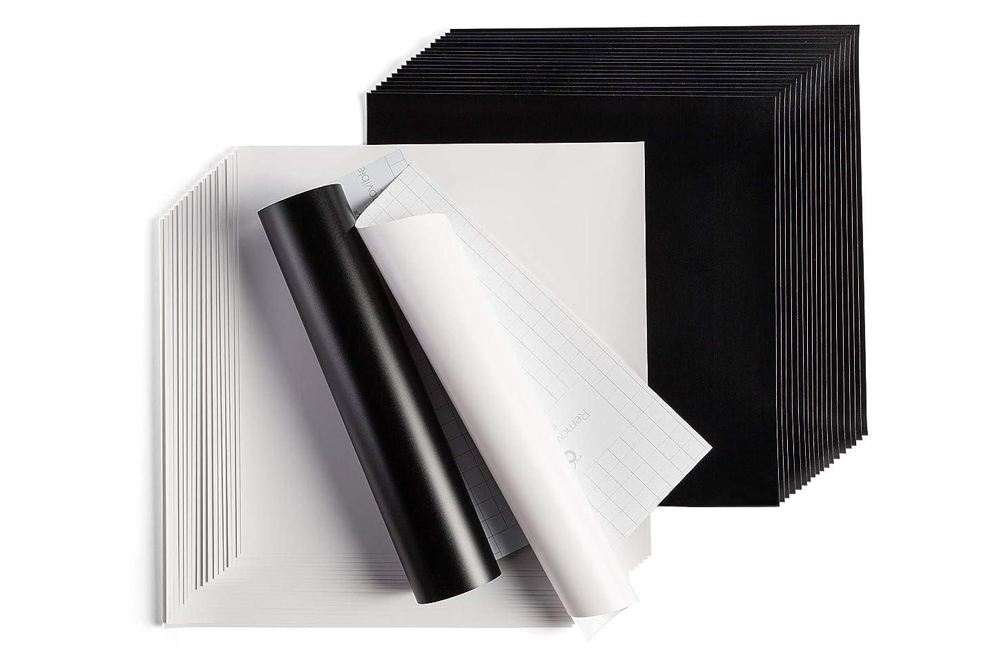 Cricut Removable Vinyl Pack, 40 Sheets Black/White