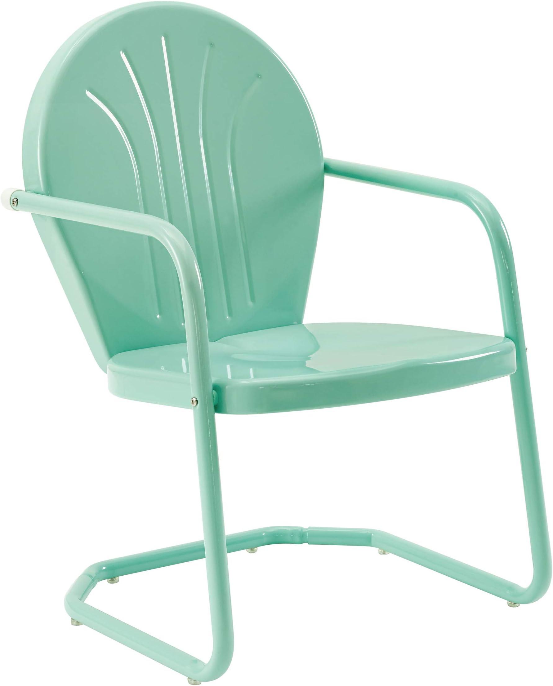 Crosley Furniture CO1001A-AQ Griffith Retro Metal Outdoor Chair, Aqua