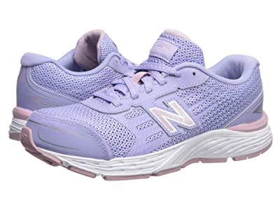 New Balance Kids 680v5 (Little Kid/Big Kid) (Clear Amethyst/Oxygen Pink) Girls Shoes