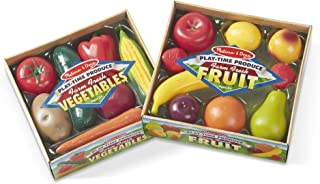 Melissa & Doug Play-Time Produce Set (Fruit, 9 Pieces, and Vegetables, 7 Pieces, Great Gift for Girls and Boys - Best for 3, 4, 5, and 6 Year Olds)