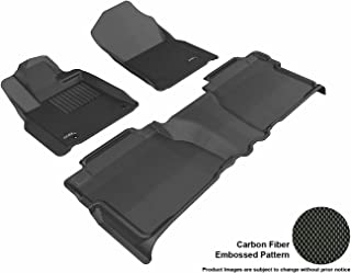 3D MAXpider L1TY14701509 Complete Set Custom Fit All-Weather Floor Mat for Select Toyota Tundra Models - Kagu Rubber (Black)