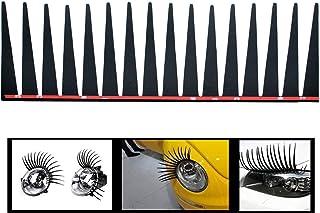 Incutex 2er Set Scheinwerfer Wimpern Auto Wimpern für alle Autos Make up für die Scheinwerfer