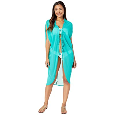 Echo Design Solid Side Cowl Cover-Up (Emerald Sea) Women