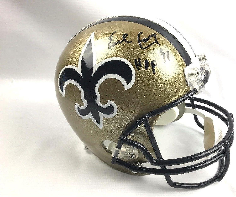Earl Campbell Autographed Helmet  Full Size COA  Autographed NFL Helmets