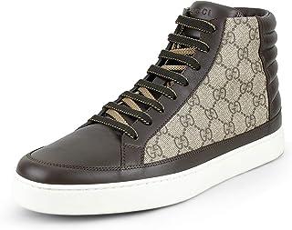bfcb8ee48 Gucci Men's GG Supreme High Top Sneaker, Brown/Beige