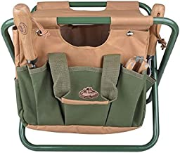 Esschert Design Canvas Tool Bag and Stool Carry-all