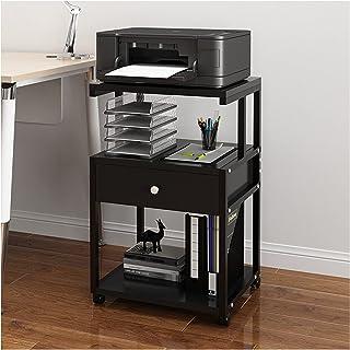 Support de bureau Support d'imprimante, Table de table d'imprimante de 3 niveaux de table de table avec armoire de rangeme...