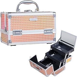 Joligrace Mallette Maquillage Malette à Onglerie Valise Vanity Maquillage Rangement Beauty Case de Voyage Femme Cosmétique...