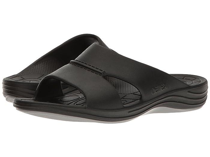 Aetrex  Lynco Slide (Black) Mens Sandals