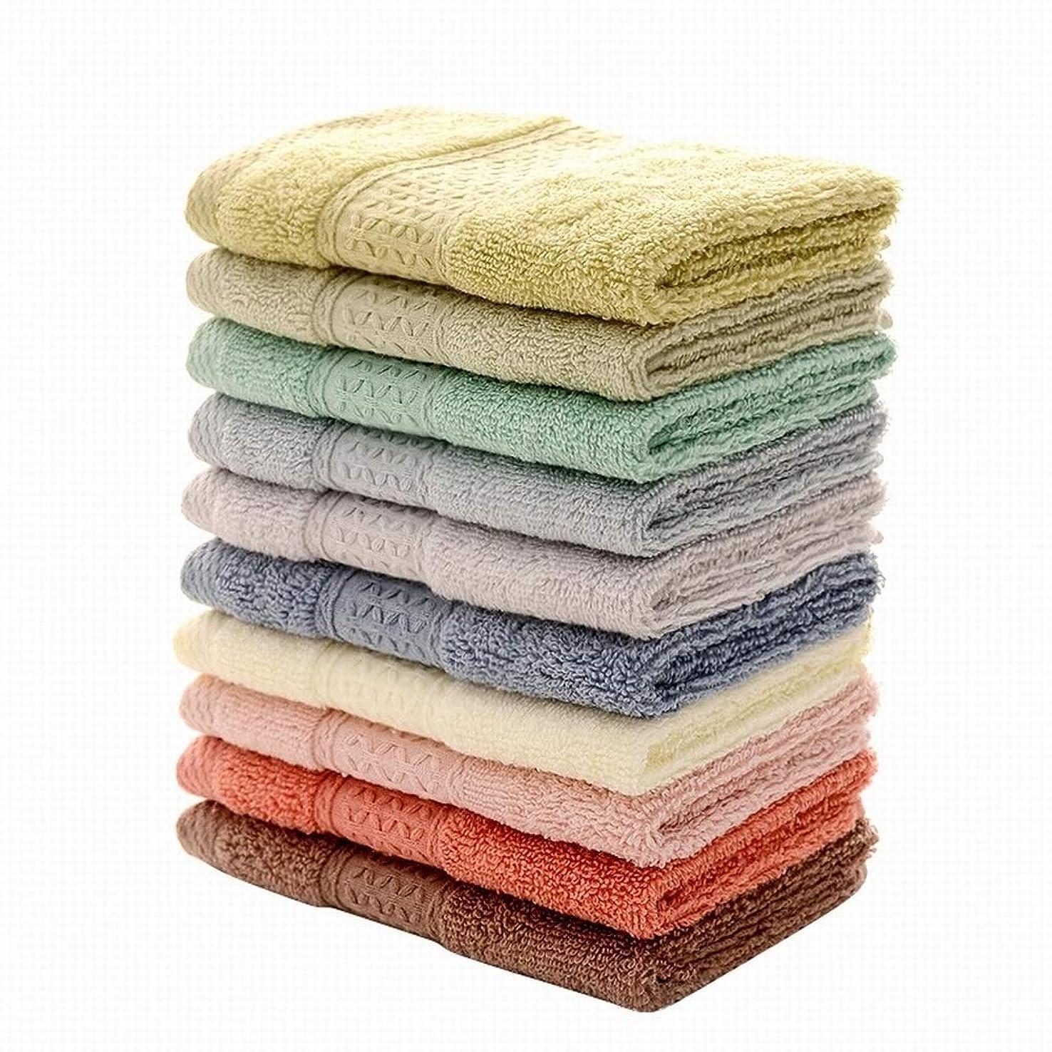 自治的初期の後者Dingfei 純粋な色の正方形のタオル 綿 厚い吸水の柔らかい小さいタオル 10枚セット33 * 33 cm