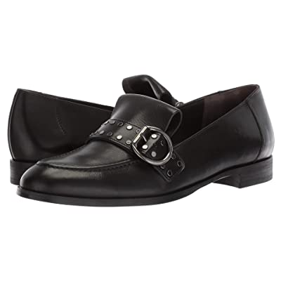 Paul Green Tarin Flat (Black Leather) Women