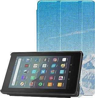 Etui ochronne Kindle Fire 7 snowboard skaczący przez powietrze Kindle Fire 7 2019 etui na tablet Fire 7 (9. generacji, mod...