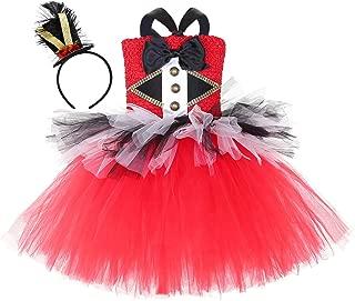 AQTOPS Girls Circus Ringmaster Costumes Halloween Christmas Birthday Party Lion Tamer Dress Costume