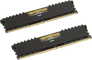 Corsair CMK8GX4M2A2400C16 Vengeance LPX 8GB (2x4GB) DDR4 DRAM 2400MHz (PC4 19200) C16 Memory Kit - Black