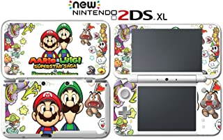 Mario Luigi Superstar Saga Bowser's Minions Video Game Vinyl Decal Skin Sticker Cover for Nintendo New 2DS XL System Console