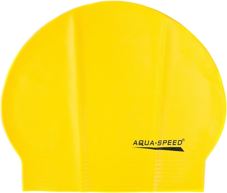 Fino estupendo C/ómodo Suave Biodegradable Aqua Speed Soft Latex Gorro de ba/ño