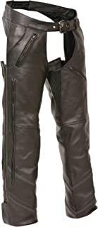 The Milwaukee Motorcycle Reflective Vented Leather Riding Chap Pants