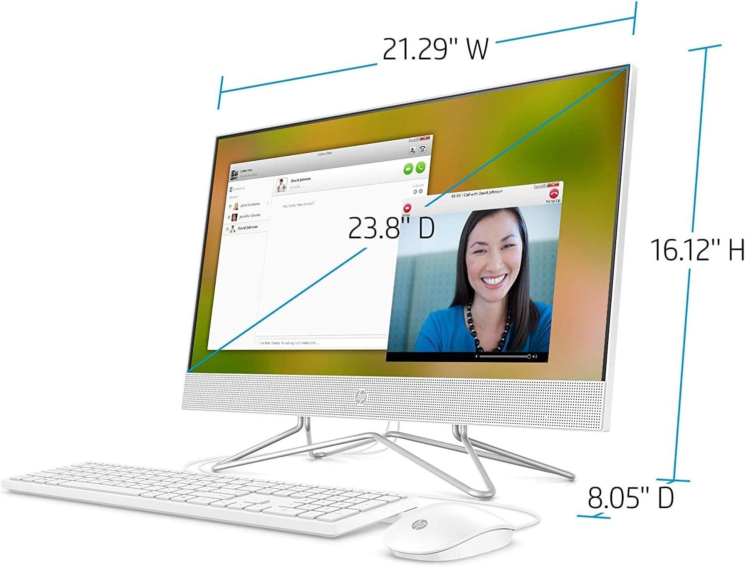 iPuzzle Mousepad 2TB PCIe SSD Remote Work AC WiFi AMD Athlon 3050U Up to 3.2GHz Bluetooth 4.2 Beats i3-7130U 16GB DDR4 RAM DVDRW HP 24 AIO 23.8 FHD All in One Desktop Computer Windows 10
