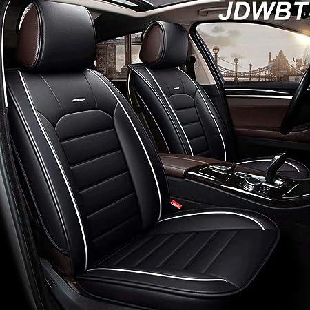 Jdwbt Autositzbezüge 5 Sitzer Komplettsatz Universal Kompatible Airbags Vorne Und Hinten Atmungsaktiv Hochwertiges Leder Comfort Protector Cushion Farbe Schwarz Auto
